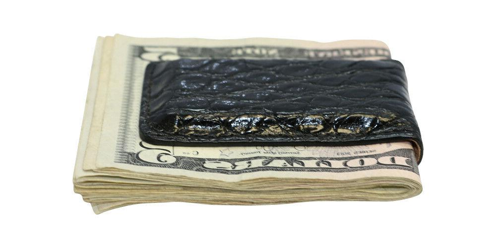 Magnetic Money Clip Genuine Crocodile Factory USA