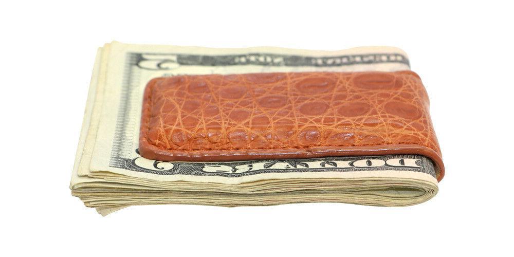 Magnetic Money Clip Crocodile Skin Factory USA