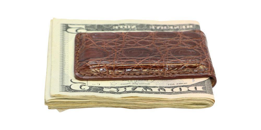 magnetic money clip genuine crocodile skin all