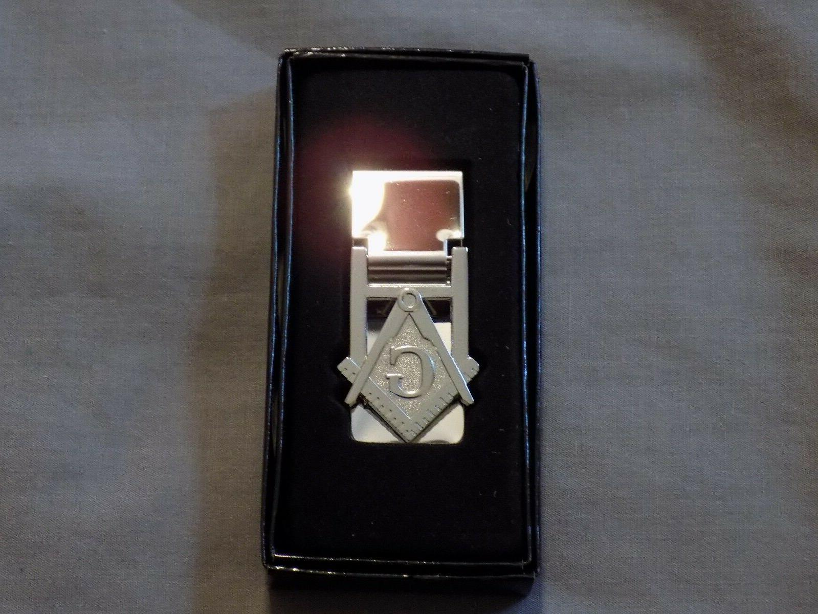 masonic money clip cut out square compass