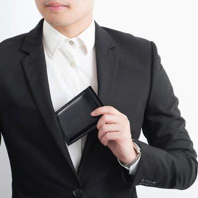 Men Slim Money ID Credit Card Black