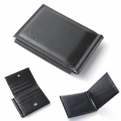 men bifold genuine leather slim wallet money