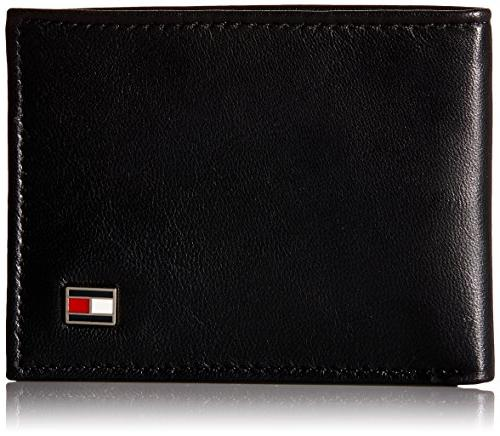 Tommy Men's Black Oxford Wallet
