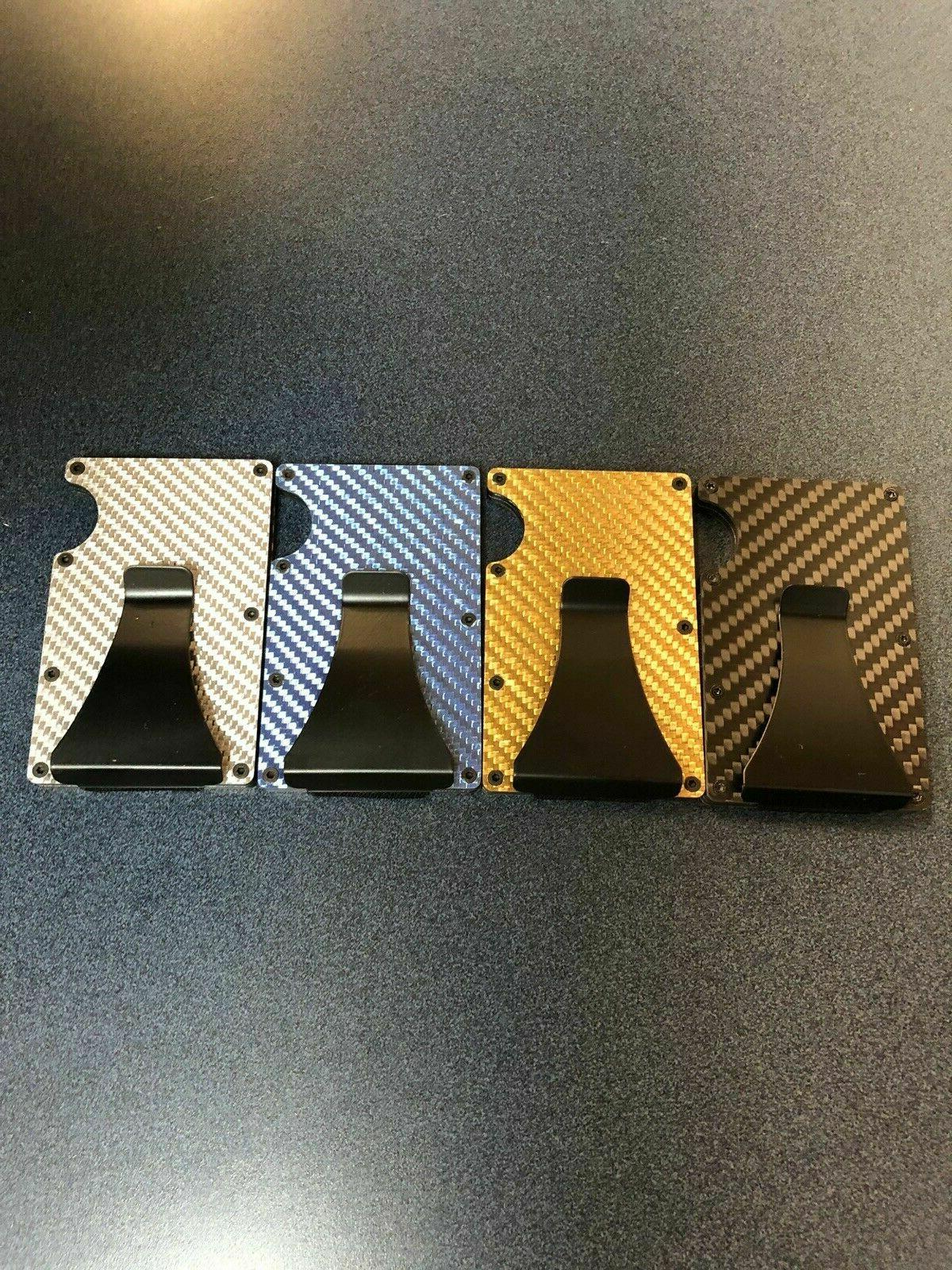 Men Credit Wallet Gifts RFID Slim Money Clip Carbon Fiber