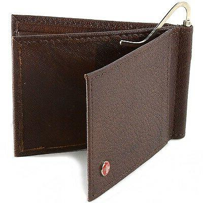 Alpine Swiss Men's Money Clip Leather Front
