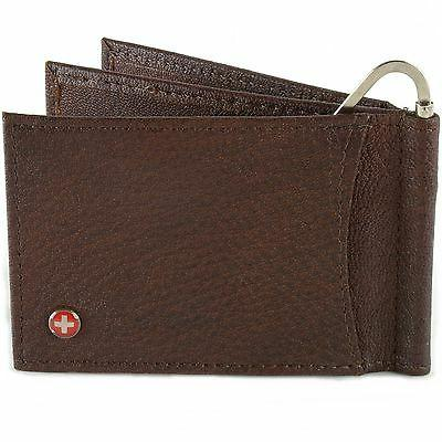 Alpine Money Clip Leather Front