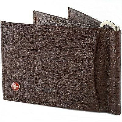 Alpine Men's Money Leather Front