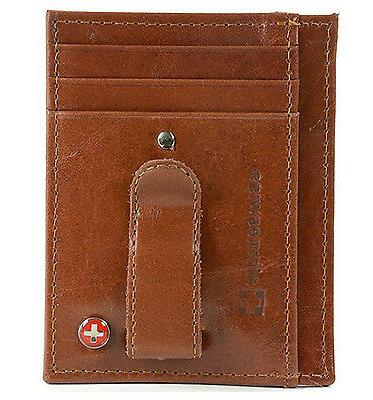 Alpine Money Clip Front Pocket Wallet Credit Card New