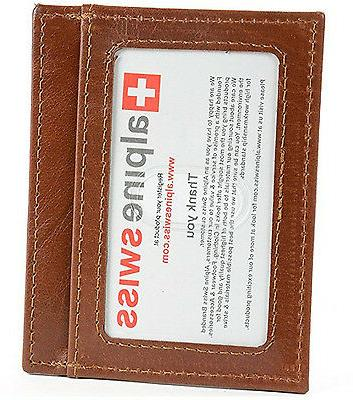 Alpine Money Clip Front Wallet Credit New