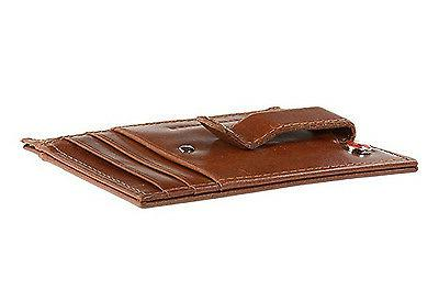 Alpine Swiss Men's Money Clip Pocket Wallet Credit Card New