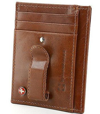 Alpine Men's Money Clip Front Wallet Credit New