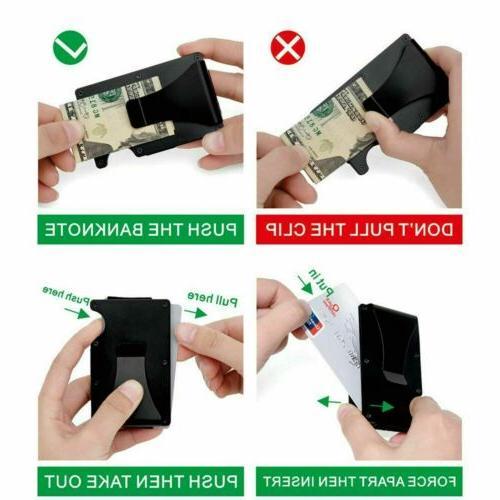 Men Credit Card Holder With Card Money Wallet USA