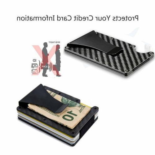 Men RFID Blocking Slim Money Card Holder Minimalist