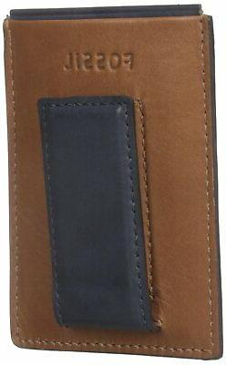 Fossil Men's Brown Max Money Leather Wallet #219