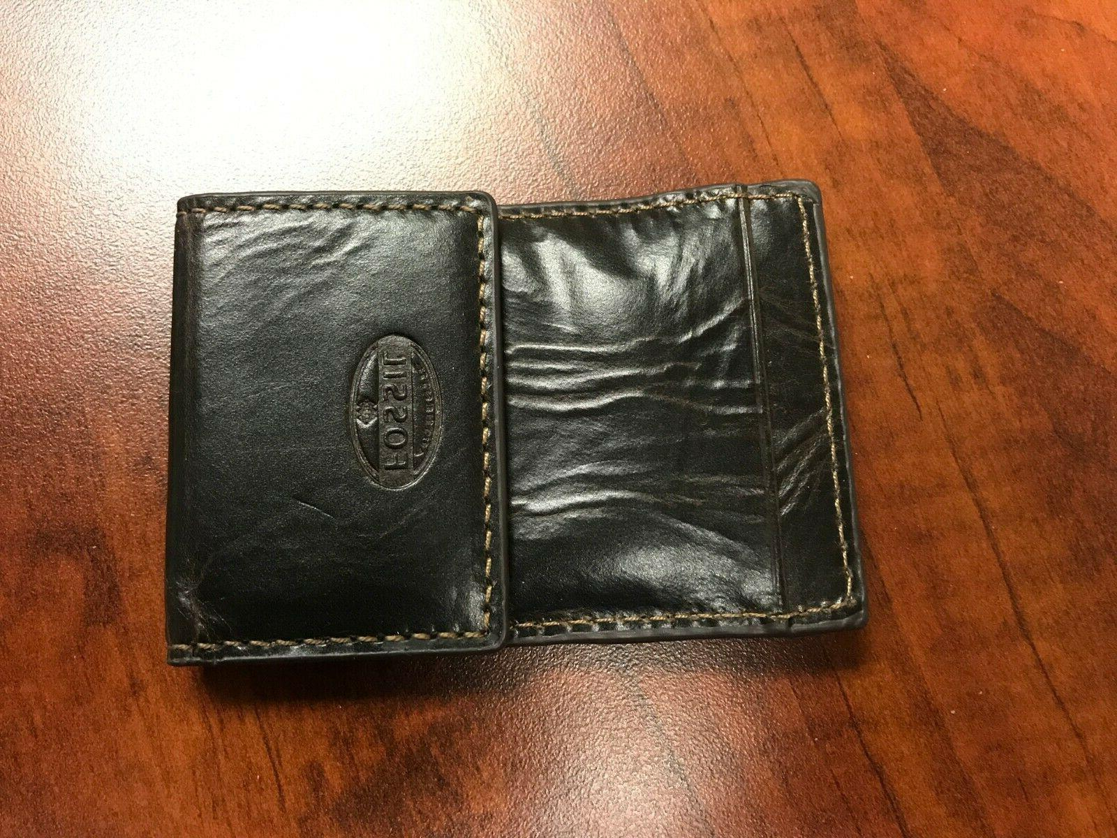 Fossil Men's Brown Leather Money Clip