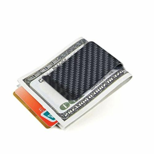 Men's Business Holder Card Wallet Fiber Black