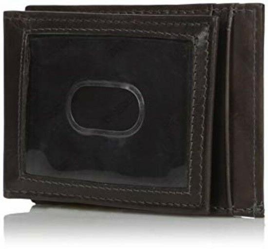 Guess Men's Front Pocket ID Wallet with Magnetic Money Clip,