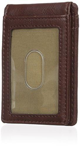 Dockers Wallet,Brown Magnetic Plaque