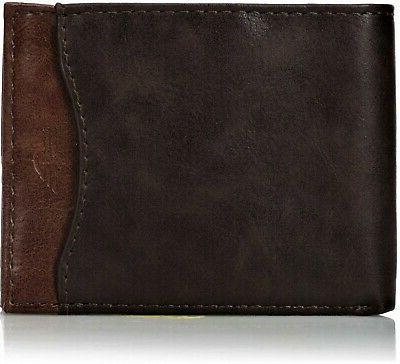 men s front pocket wallet brown