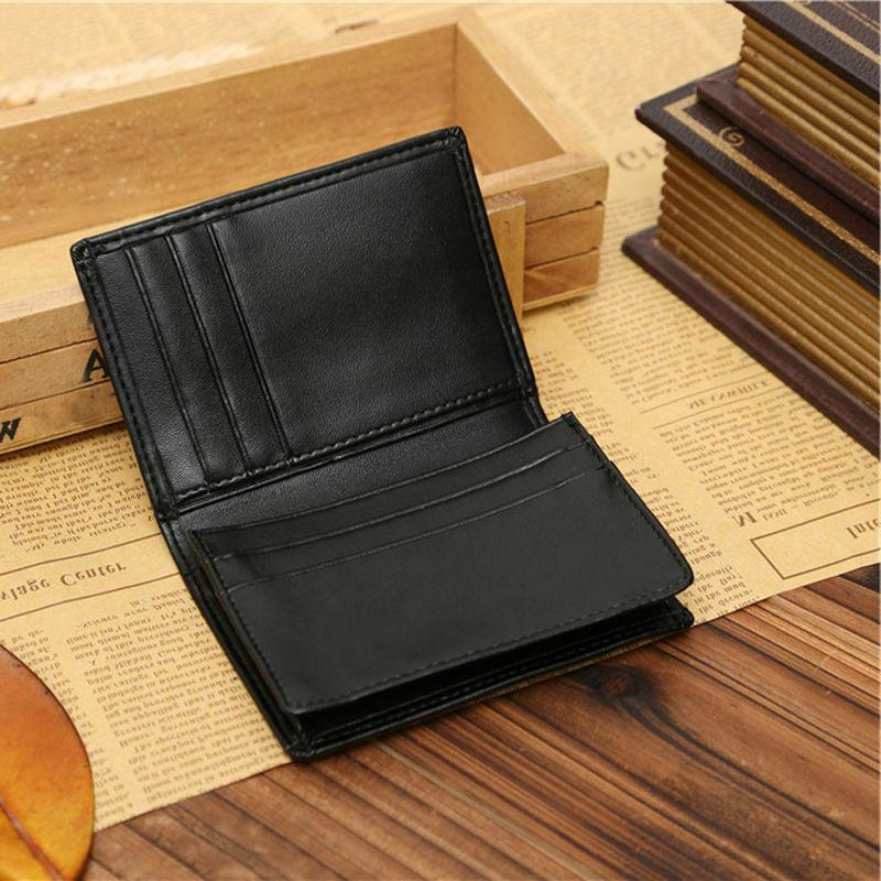 Men's Leather Wallet Credit Card ID Holder Money Clip Seller