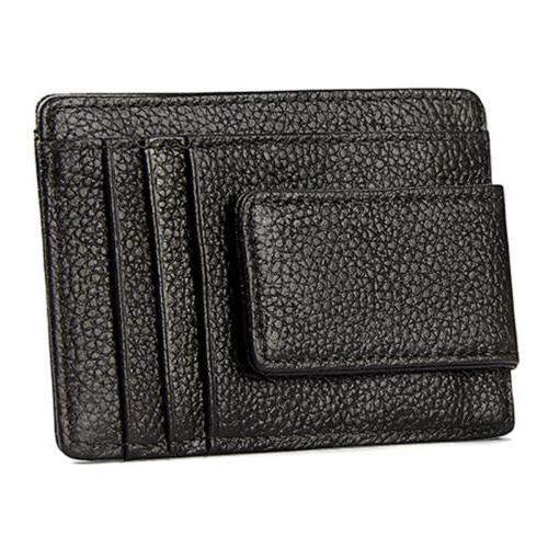 Front Wallet Money Clip ID Card Slim Holder