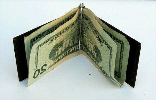 MEN'S GENUINE LEATHER SPRING MONEY USA