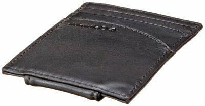 Columbia Leather Magnetic Money Minamalist Slim Card Case WalletB...
