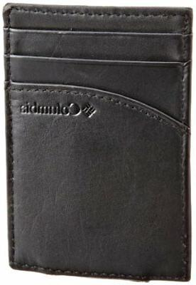 Columbia Men's  Leather Magnetic Money Clip Minamalist Slim