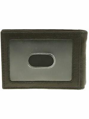 men s leather money clip bifold wallet