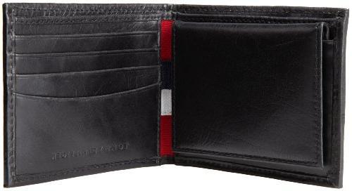 Tommy Hilfiger Leather Passcase Wallet,Bexley Black