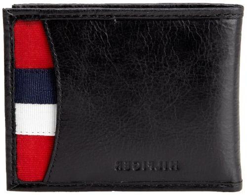 men s leather passcase wallet bexley black