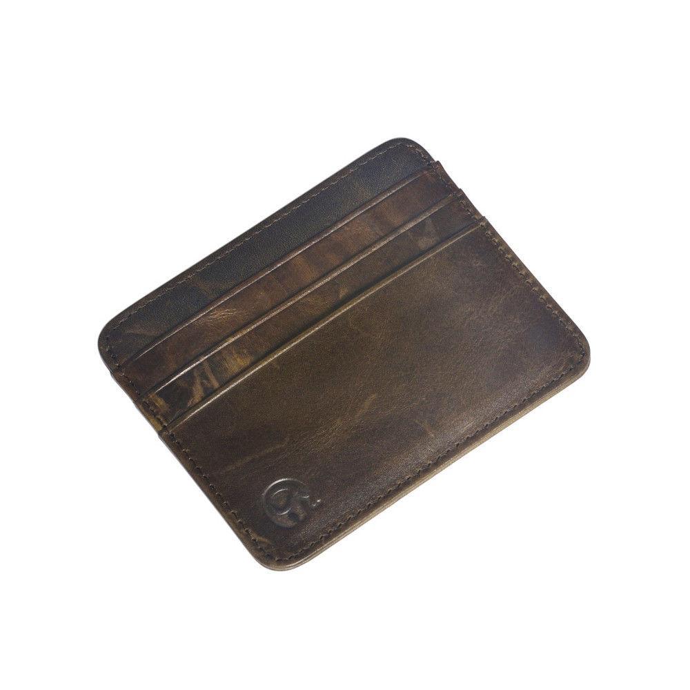 Men's Money Clip Front Pocket Thin Card New