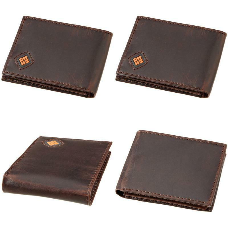 men s leather slim traveler bifold wallet
