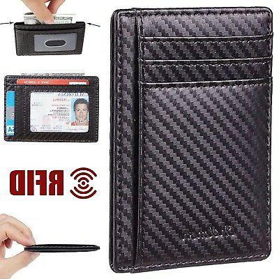 men s leather wallet money clip id