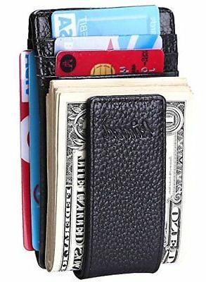 Slim Magnet, Money Clip RFID Credit Blk