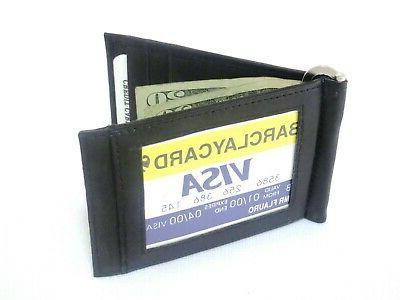 Men's Genuine Black Bifold Money Wallet Credit Holder.