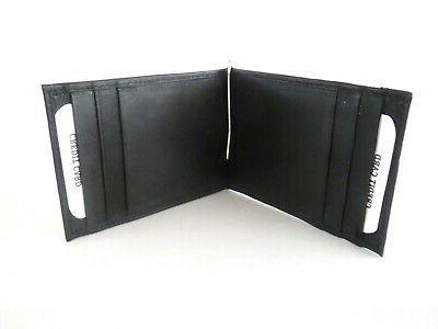 Men's Genuine Black Bifold Money Wallet Holder.
