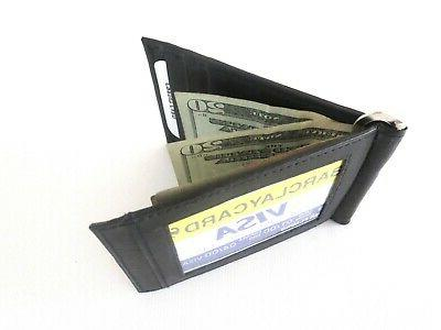 Men's New Black Money Wallet ID Credit Holder.