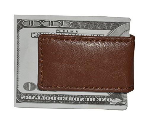 men s new leather strong magnetic money