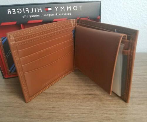 TOMMY Men's Wallet *Tan Genuine