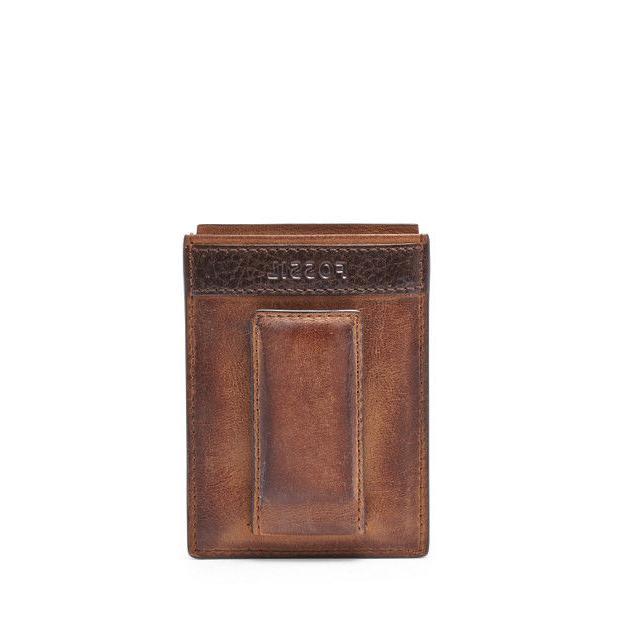 men s quinn magnetic card case rown