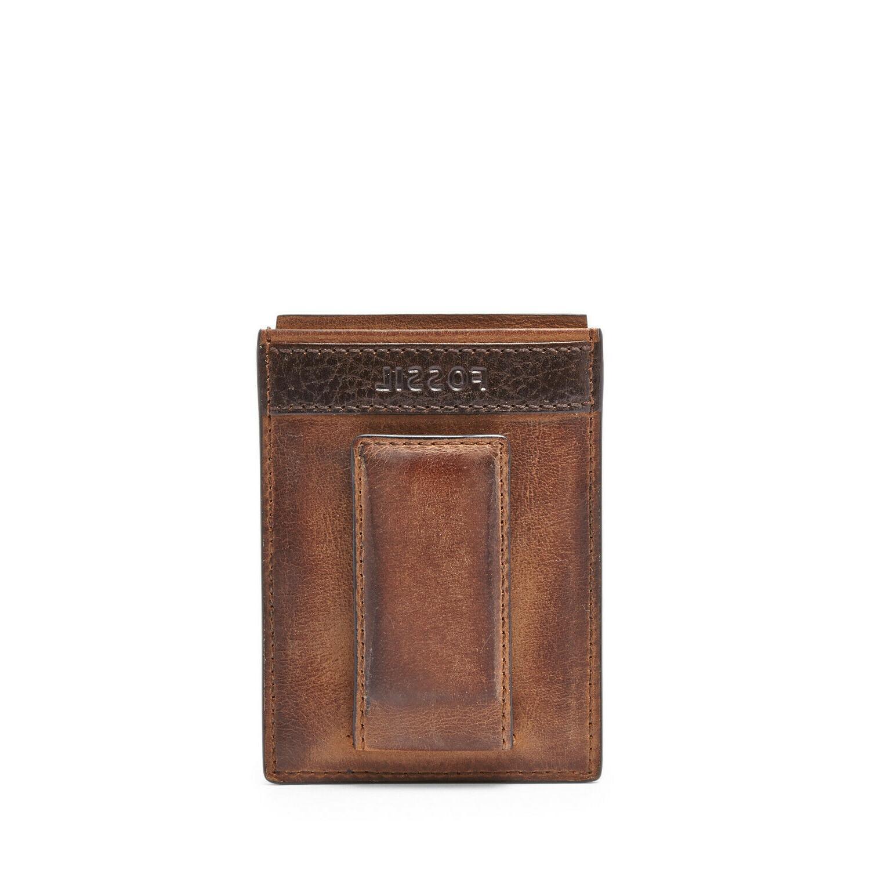 men s quinn magnetic card holder brown