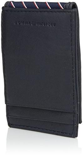 Tommy Leather Front With Money Clip -navy, 1Siz