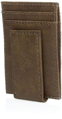 Columbia Men's RFID Blocking Pocket Wallet,Dillon Tan