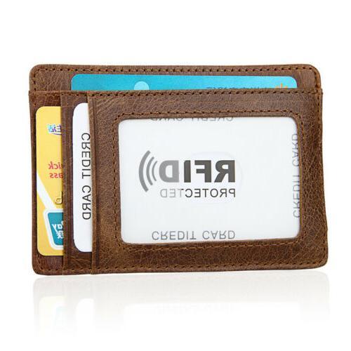 Men's Vintage Magnetic Slim Wallet Holder