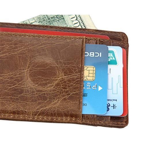 Men's Vintage Magnetic Slim Wallet