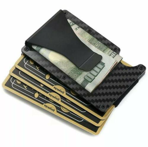 RFID Clip Fiber Credit Card Wallet