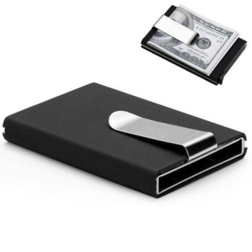 Blocking RFID Metal Wallet Money Clip Men Alloy Money Credit