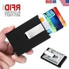 Men Slim Metal Credit Card Holder RFID Blocking An-Theft Mon