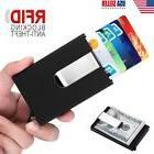 Men Slim Metal Credit Card Holder RFID Blocking An-Theft Mon